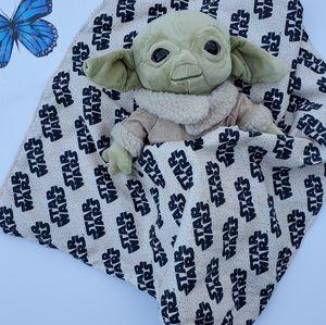 Lovey The child mandalorian Plush Security Blanket